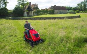 Contax - cutting long grass -  PJ Barrow